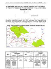 Adoption of innovations and its effect on the economy of 57 villages in the Department of Cusco