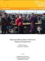 Effective Development Assistance Through Competition