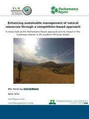 Enhancing sustainable management of natural resources through a competition-based approach