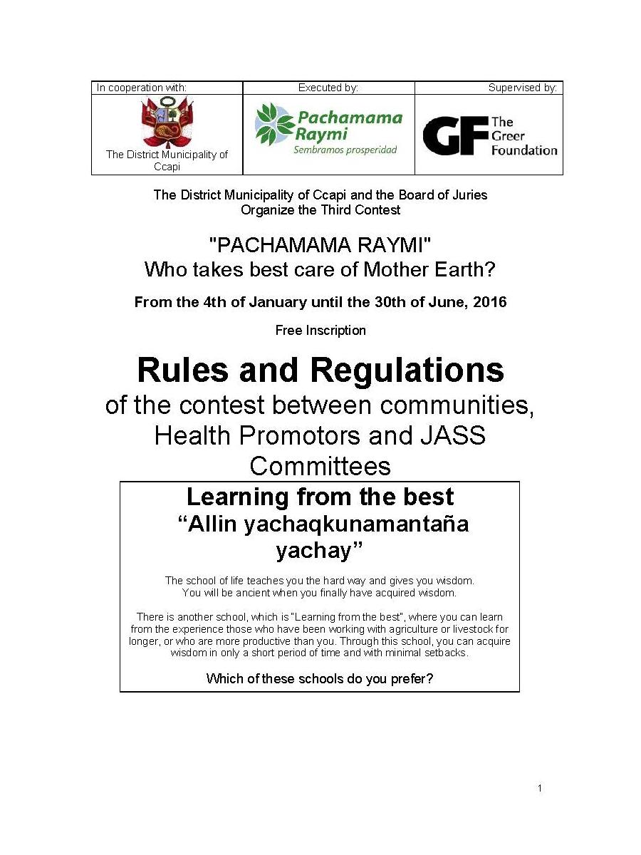 sweepstakes laws and regulations the books of pachamama raymi 686